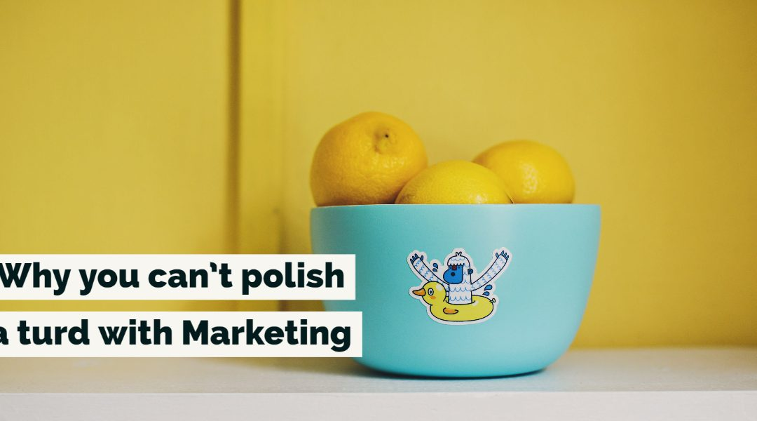 Why you can't polish a turd with Marketing